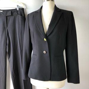 Tahari Suit Pinstriped Career Blazer & Pants